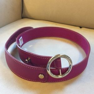 D&G purple/pink colored leather belt